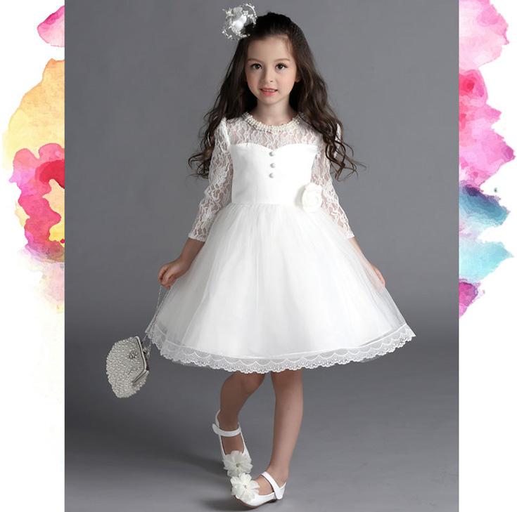 儿童礼服公主裙蓬蓬裙春装2019新款钢琴演出服女童大童长袖连衣裙