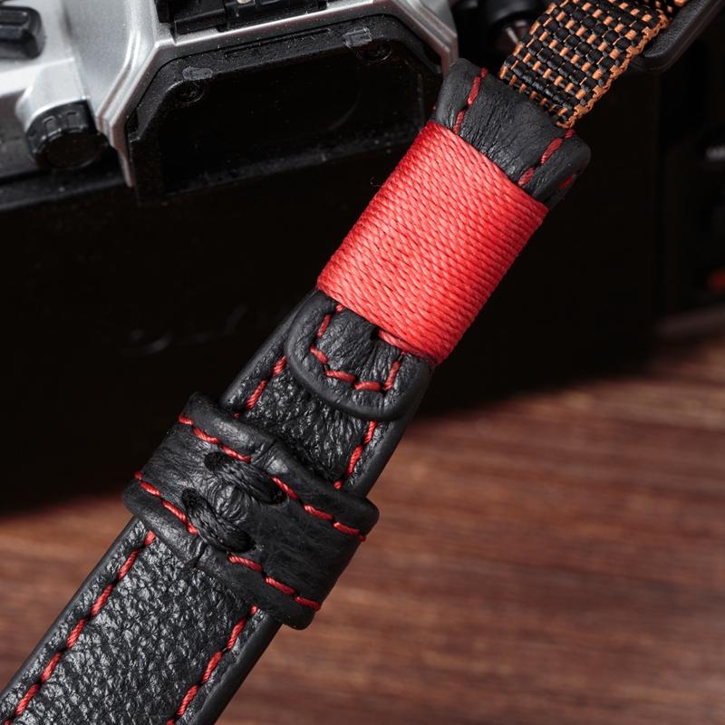 适用索尼微单相机A7RM3 A64006500 A7r2 a7RM4  Z6牛皮手挂绳腕带