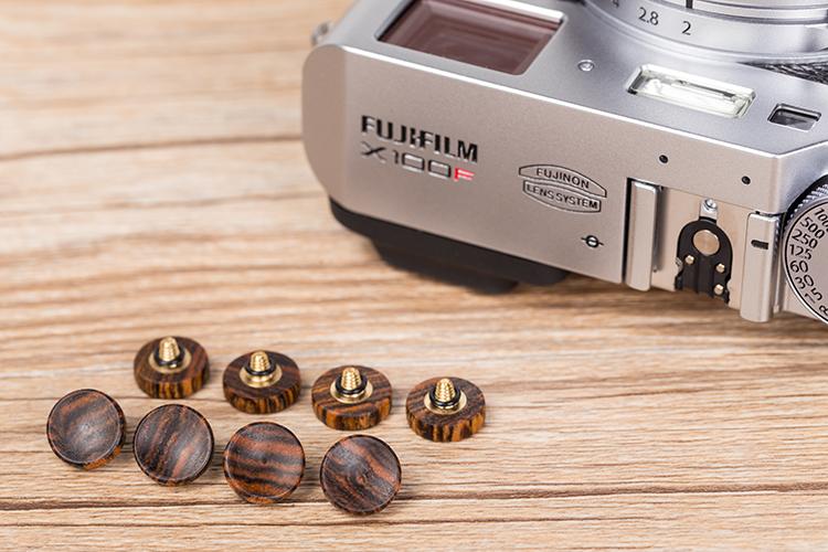 原创檀木制相机快门按钮适用徕卡M系列富 xt30 XT20奥林巴斯 按键