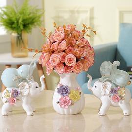 大象摆件招财创意家居客厅酒柜装饰品家里卧室工艺小摆设现代简约