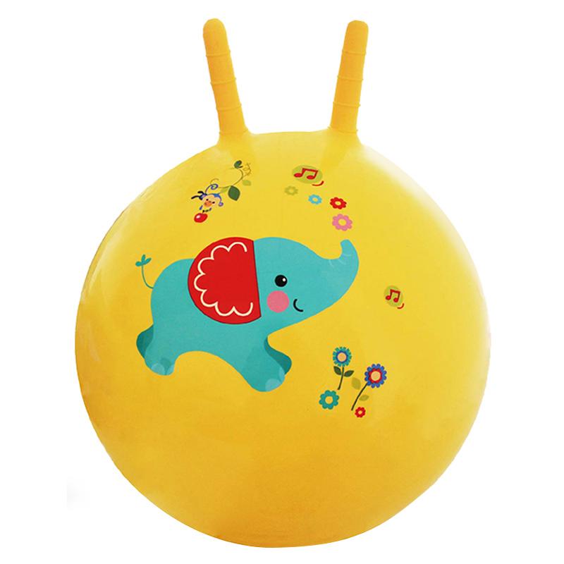 费雪羊角球跳跳球加厚瑜伽宝宝健身球儿童蹦蹦球弹跳球玩具球大号