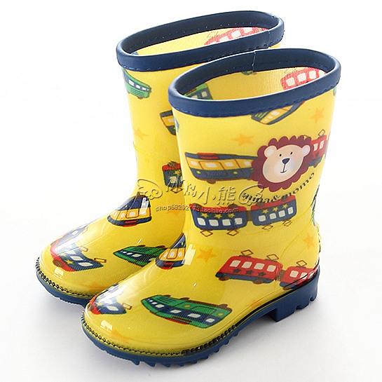 新品包邮 出口男女儿童雨鞋PU包边轻便宝宝雨靴幼儿中筒防滑水鞋