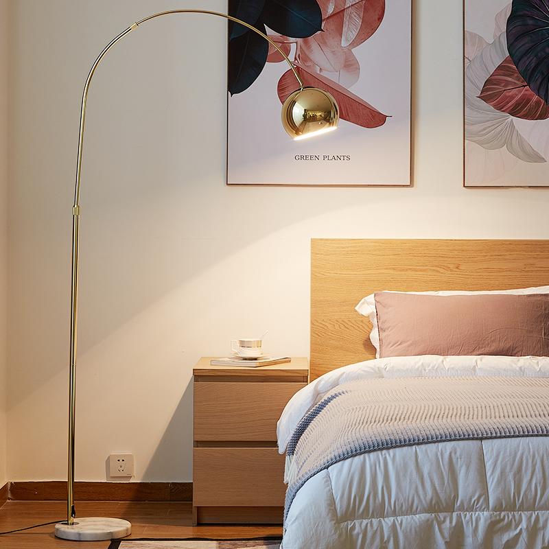 大理石钓鱼灯落地灯轻奢客厅沙发简约后现代创意卧室灯具 ins 北欧
