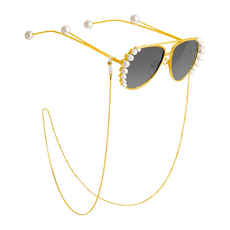 女主/保色S304钛钢 眼镜链条挂脖老花近视墨镜链子绳网红复古时尚