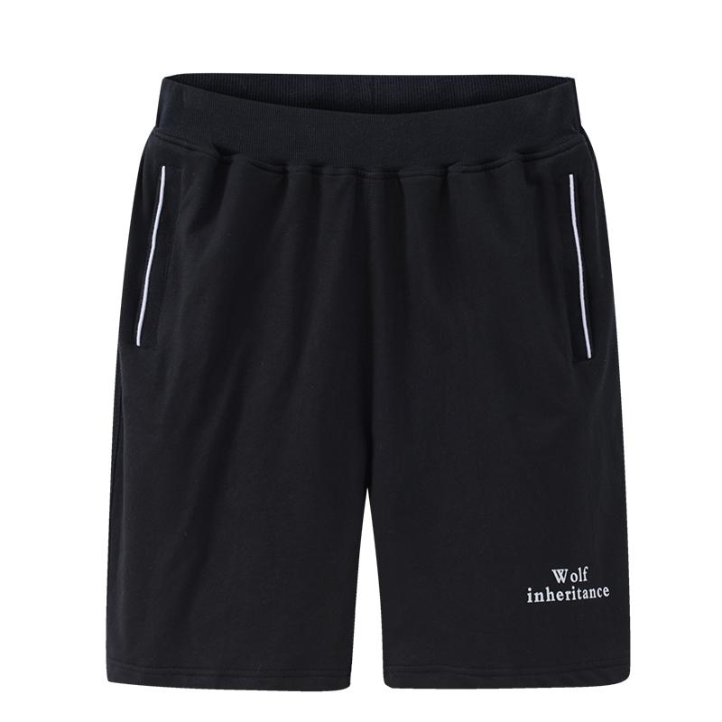夏季运动短裤男外穿休闲裤宽松大码纯棉中裤薄款全棉针织五分裤男