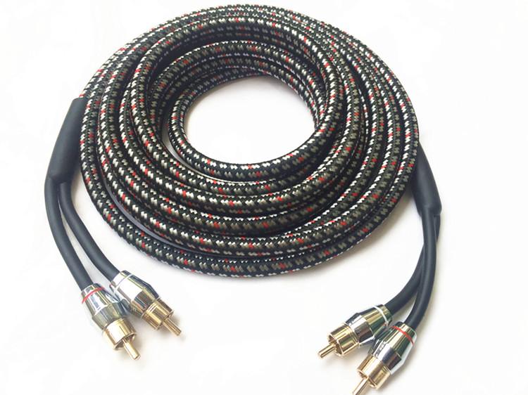线 RCA 米音频信号 4.5 特价汽车音响改装车载功放低音炮专用线材纯铜
