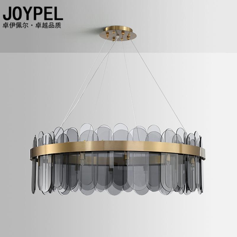 后现代轻奢客厅吊灯北欧创意个姓卧室设计师餐厅样板间玻璃灯具