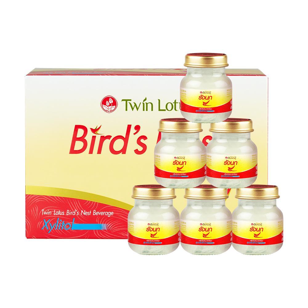 泰国进口,2.8%干燕窝,无糖0防腐剂:45mlx6瓶 Twin Lotus双莲 木糖醇金丝燕即食燕窝