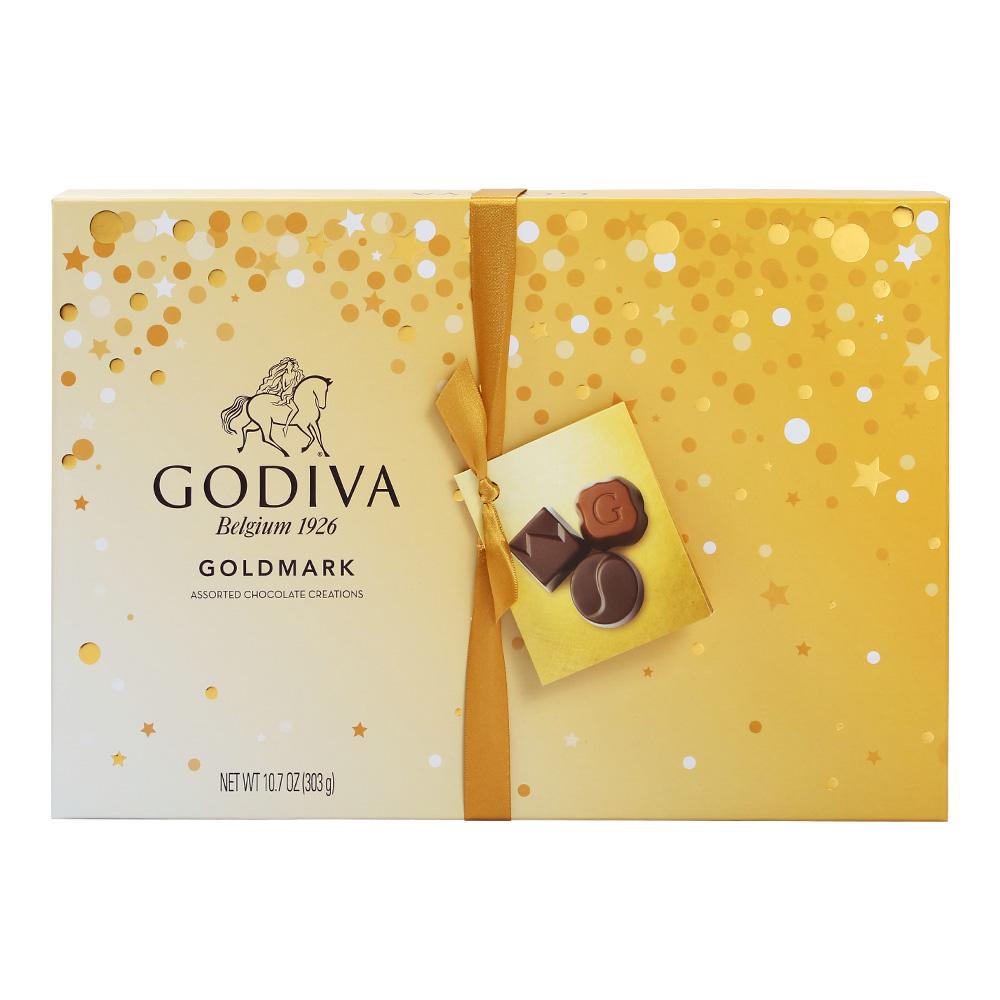 【直营】美国进口GODIVA歌帝梵软心夹心巧克力金色礼盒装27粒送礼