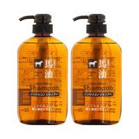 熊野油脂马油滋润无硅洗发水温和清洁滋养去屑洗发露600ml*2瓶 (¥75)
