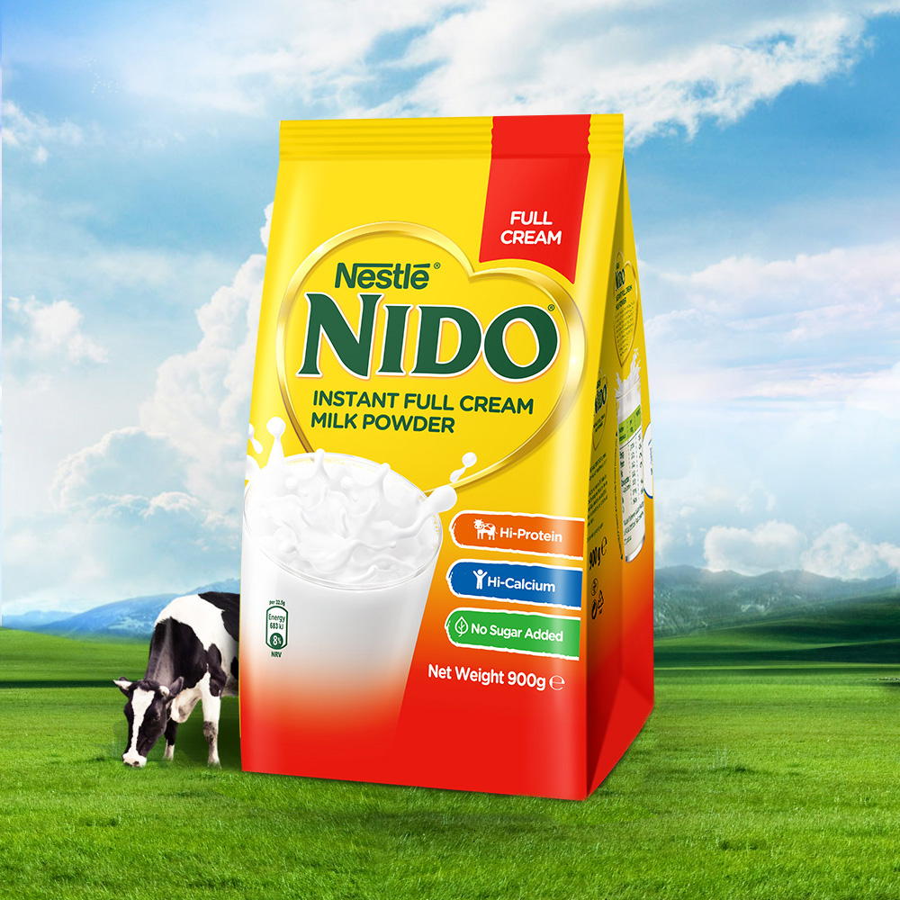 荷兰进口 雀巢 NIDO 全脂高钙奶粉 900g/袋