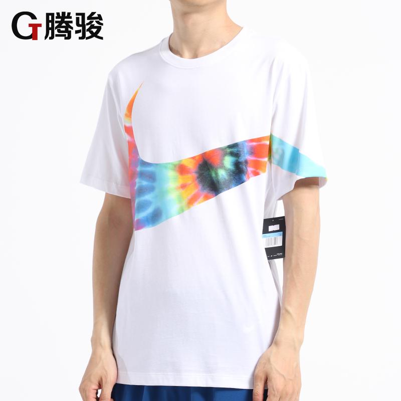 耐克BIG SWOOSH大勾子大LOGO休闲短袖T恤男AR5192 CI9348-010 100高清大图