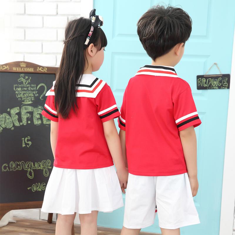 2016新款幼儿园园服夏装儿童校服小学生班服海军服六一合唱演出服