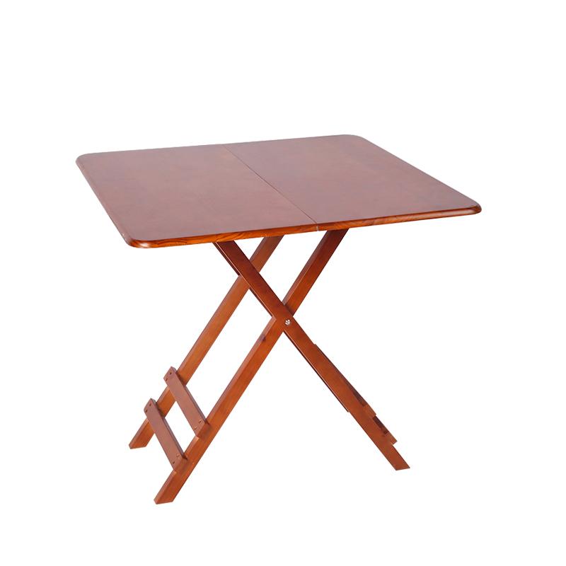 实木折叠桌简易桌子折叠小方桌正方形折叠餐桌饭桌家用休闲学习桌