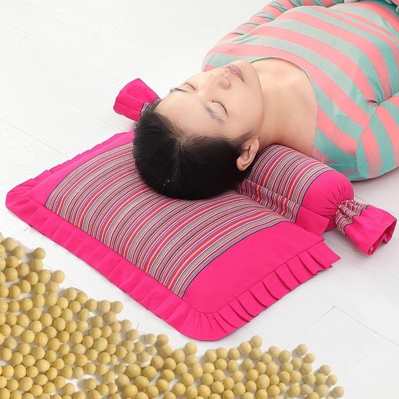 黃豆頸椎枕頸椎專用修復枕頭蕎麥護頸枕成人矯正反弓病人黃豆枕芯