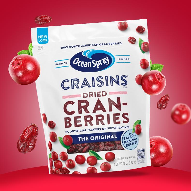 对女性友好:美国进口 OceanSpray优鲜沛 蔓越莓干 1360g