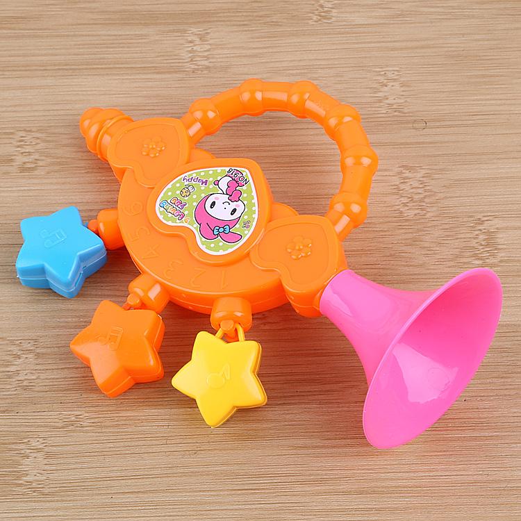 婴儿手摇铃3-6-12个月新生儿宝宝玩具拨浪鼓摇摇乐地摊货玩具批发