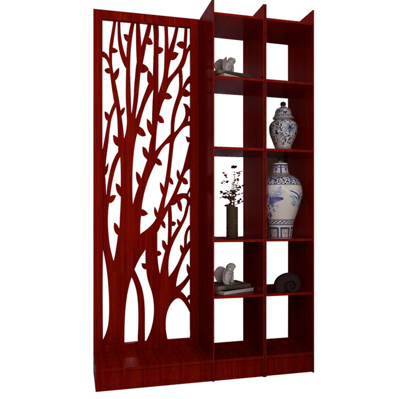 客厅玄关隔断柜门厅实木酒柜现代简约屏风柜中式间厅柜入户装饰架
