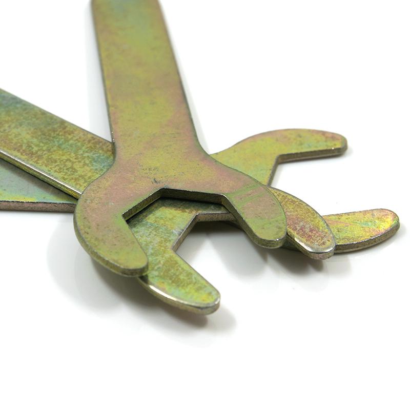 家具简易扳手家用超薄简易外六角开口扳手六角匙单头薄口六角扳手