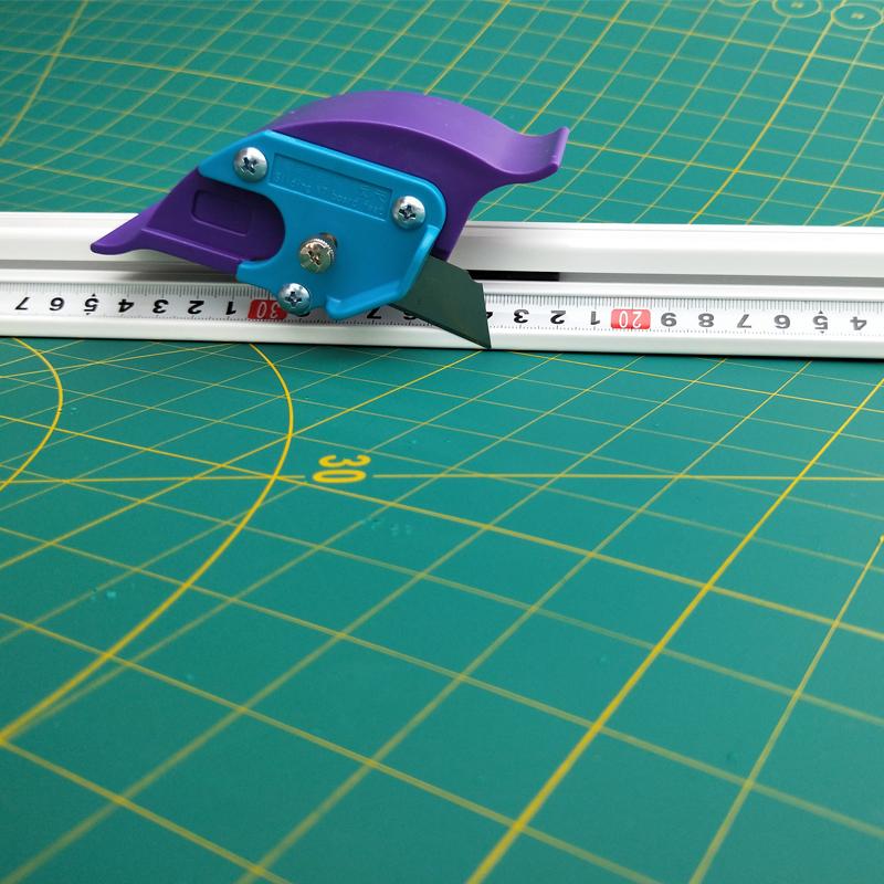 style+ 广告裁切尺 铝合金防走偏尺 kt板材美工直尺卷材切割工具