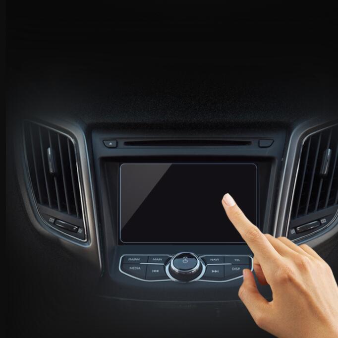 雷克萨斯 LX 570中控液晶屏保护膜贴膜 导航钢化玻璃膜新16 17款