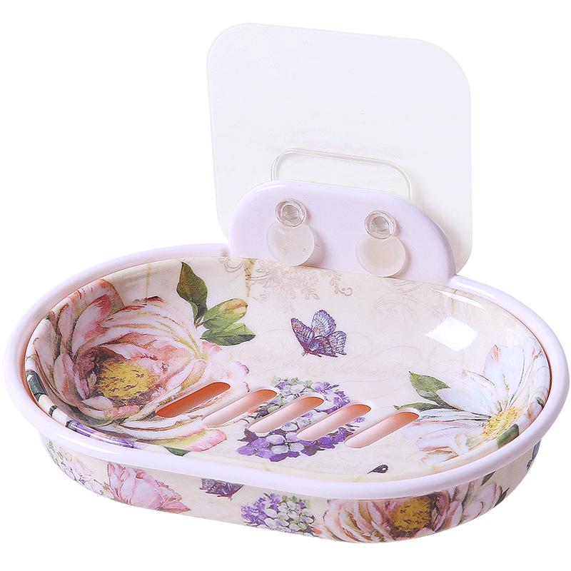 希尔肥皂盒家用免打孔壁挂式吸盘香皂架皂盒肥皂架香皂盒创意皂架