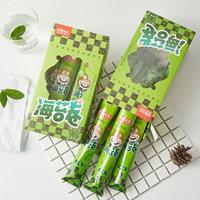 【海狸先生】海苔卷海苔脆即食小零食脆原味烧烤味紫菜卷儿大支装 (¥20)