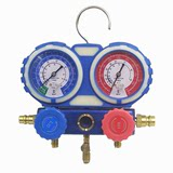 Car air conditioning fluoride meter refrigerant pressure gauge refrigerant double gauge valve air conditioning repair tool equipment household R134a