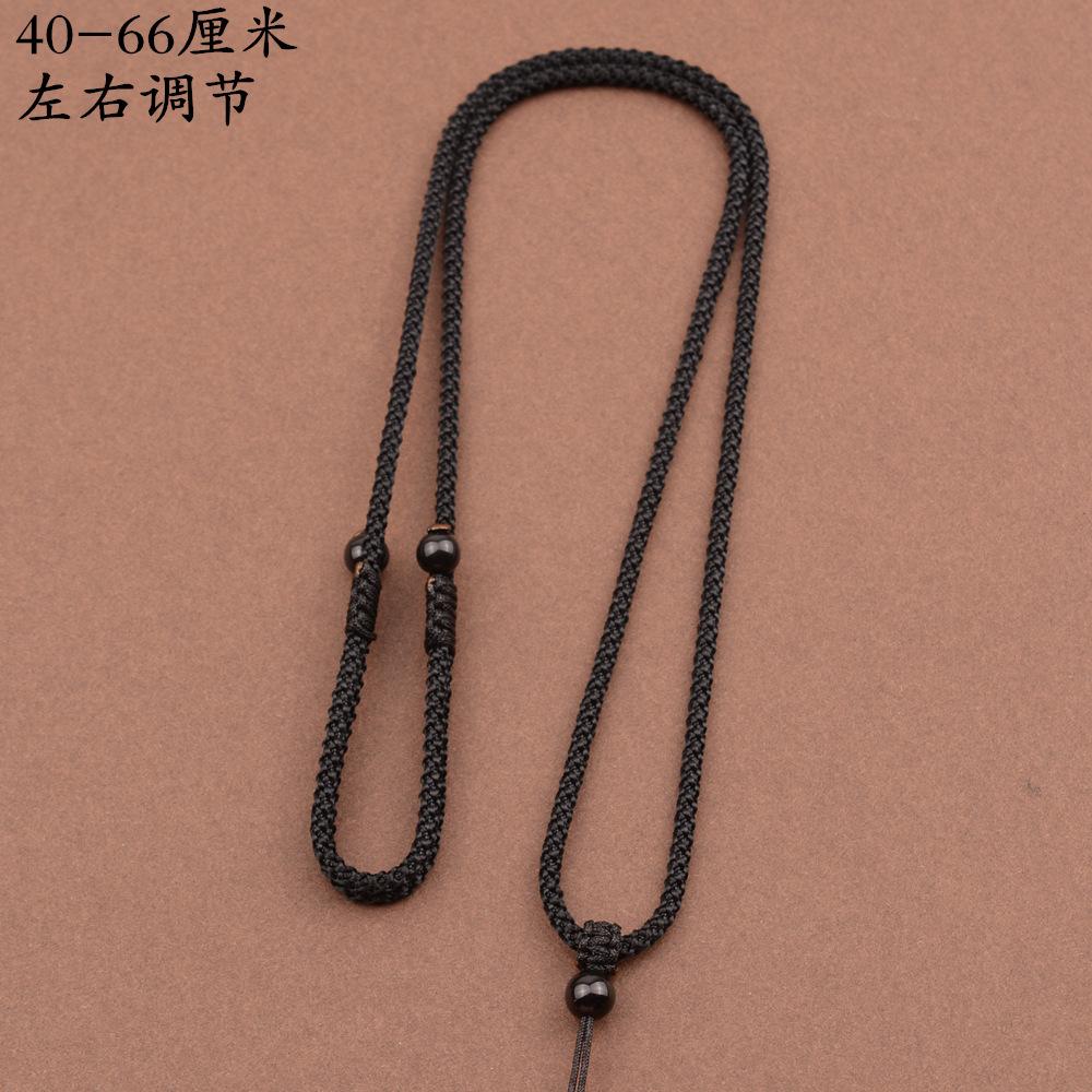 手工编织吊坠挂绳玉佩黄金翡翠玉坠项链红绳平安扣男女黑挂件绳子