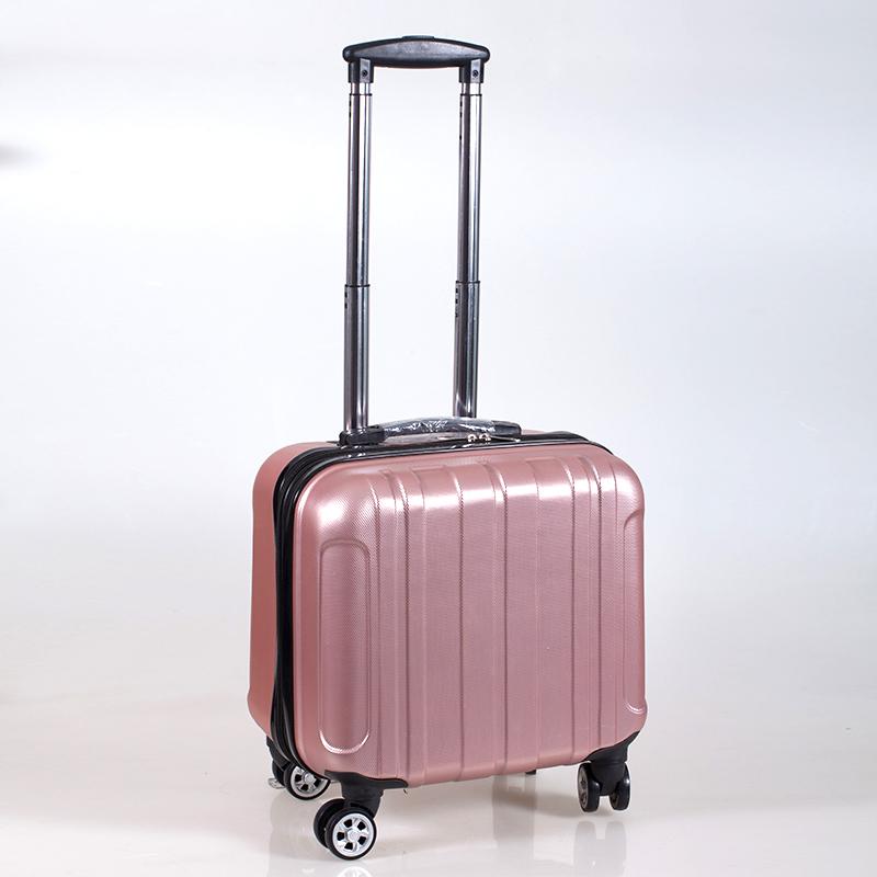 商務拉桿箱行李箱小號18寸男女士密碼旅行包方形橫款登機箱空姐17