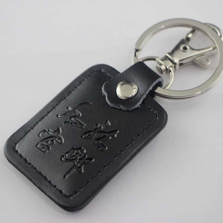 热销皮扣定做logo 皮质皮革钥匙扣汽车挂件可定制logo促销 广告