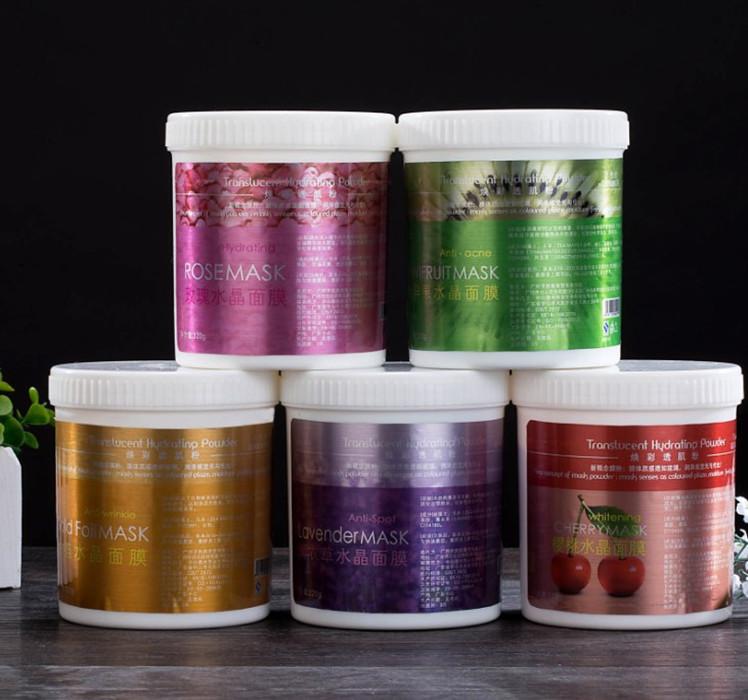 克 500 美容院装护肤品天然补水水晶软膜粉玫瑰花瓣果冻保湿面膜粉