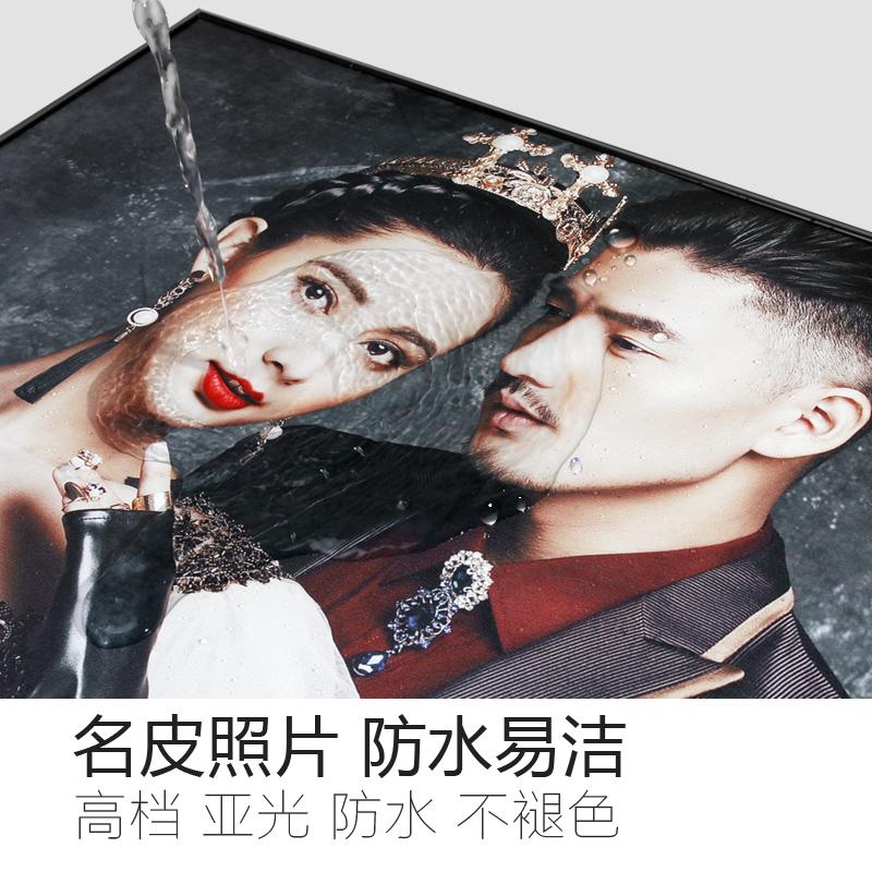 寸皮雕结婚照金属韩式客厅卧室 243648 婚纱照放大相框挂墙组合套装