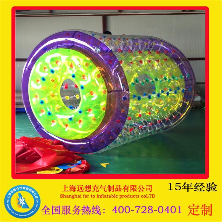 水上滚筒球步行球成人儿童草地悠波球碰碰球充气水上乐园设备玩具
