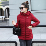 Cotton jacket women short section winter 2019 new hooded thick cotton coat wild Korean casual down jacket jacket