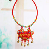 Dragon Boat Festival multicolored rope necklace collar baby child longevity lock baby full moon hundred days of age festive supplies