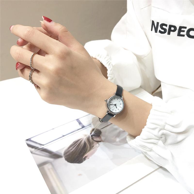 风复古细带小巧气质小清新款百搭石英手表女学生韩版简约皮带 chic