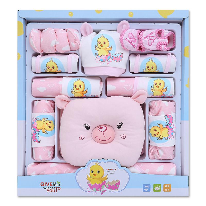 初生幼兒嬰兒衣服禮盒春秋套裝純棉新生兒用品滿月寶寶衣服大禮包