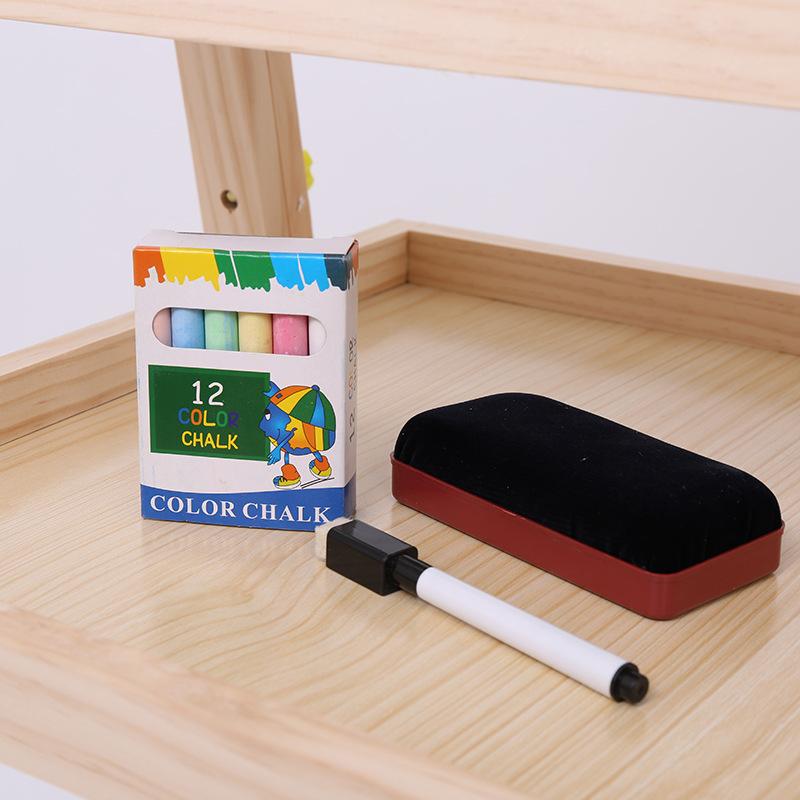 儿童画板实木画架套装双面磁性写字板绘画板升降益智早教画板