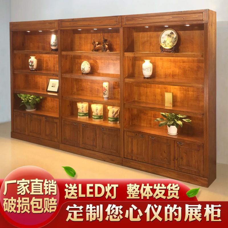 实木珠宝首饰展示柜古董玉器保健品玻璃展柜茶叶茶具瓷器陈列柜