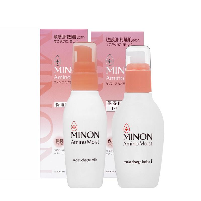【保税】日本松本清 蜜浓MINON敏感肌肤氨基酸化妆水1号+乳液组合