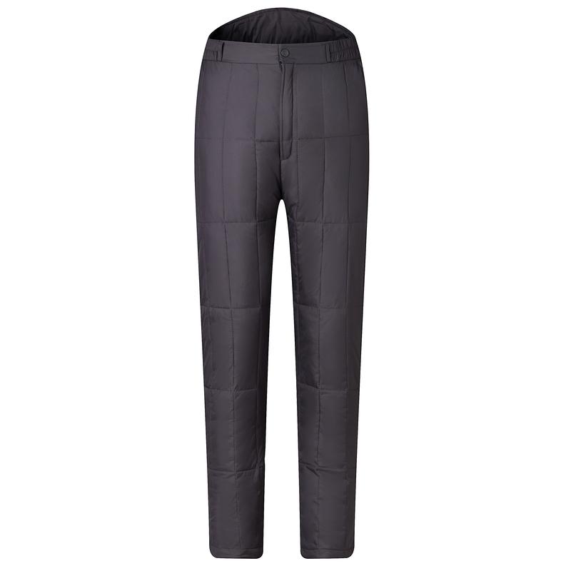 新款中老年羽绒裤男女同款高腰加厚大码保暖棉裤白鸭绒内胆长裤