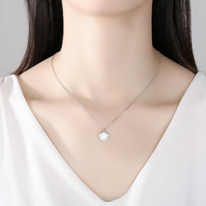 贝壳项链女纯银夏轻奢小众 新款吊坠饰品情侣送女生礼物一贝子  2021