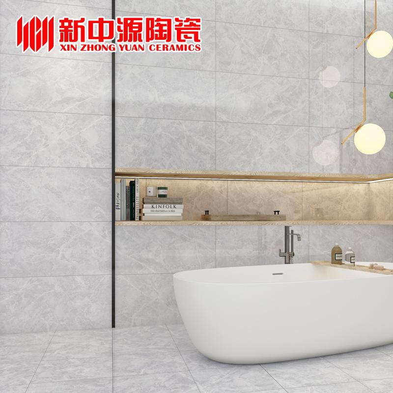 新中源北欧瓷砖地砖卫生间瓷砖300x600浴室防滑地砖厨房墙砖6308