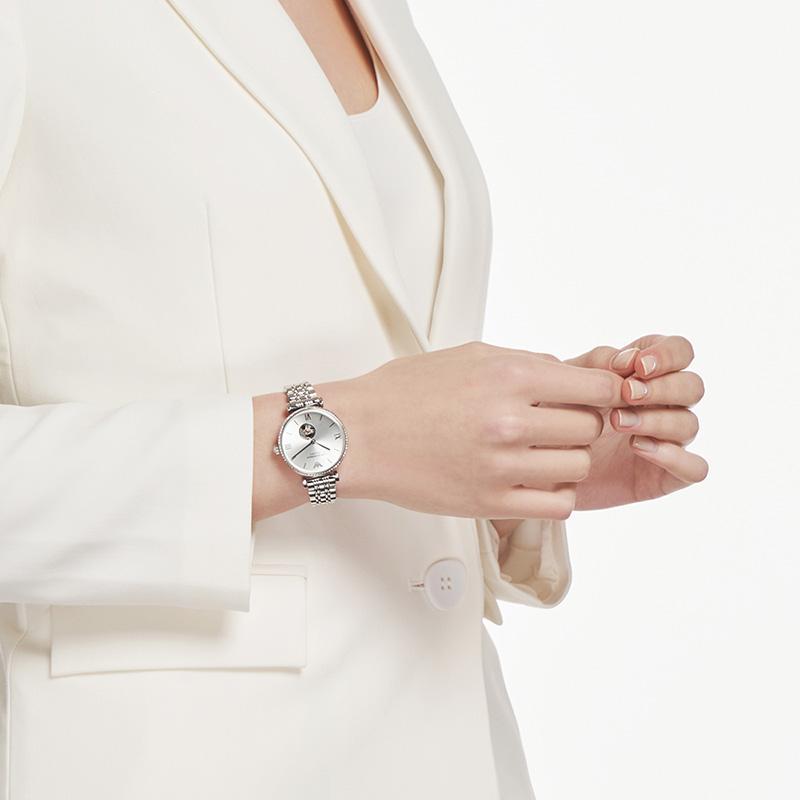 Armani阿玛尼官方正品2020年新款满天星手表女镂空机械表AR60022