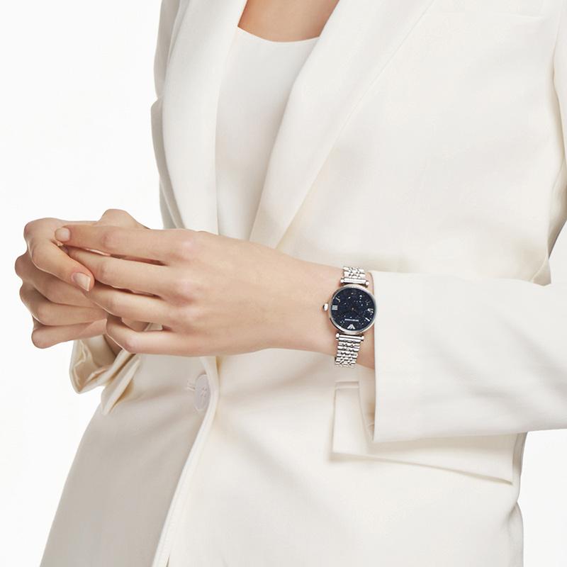 【官方】Armani阿玛尼满天星女表时尚潮镶钻星空女士手表AR11091