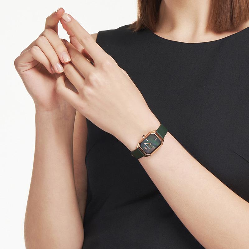 Armani阿玛尼方表复古轻奢小绿表官方正品手表女新年礼物AR11149