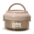 Snoopy's new brown double multi-layer stainless steel insulated lunch box portable meal barrel insulated barrel detachable lunch box