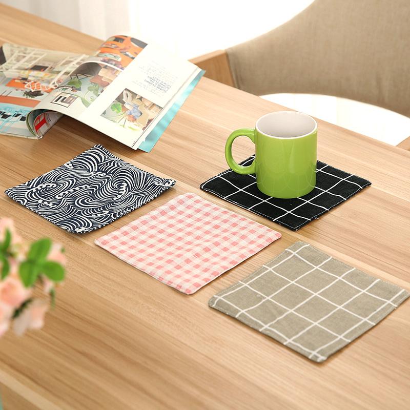 客厅餐桌垫防烫锅垫棉麻布艺隔热垫餐垫厨房餐具盘子碗垫创意杯垫