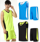 Loose large size sleeveless training sportswear men's sweat-absorbent breathable basketball suit fitness running suit men's shorts vest